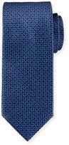 Brioni Circle-Link Printed Silk Tie