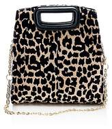Maje Leopard Print Convertible Shoulder Bag