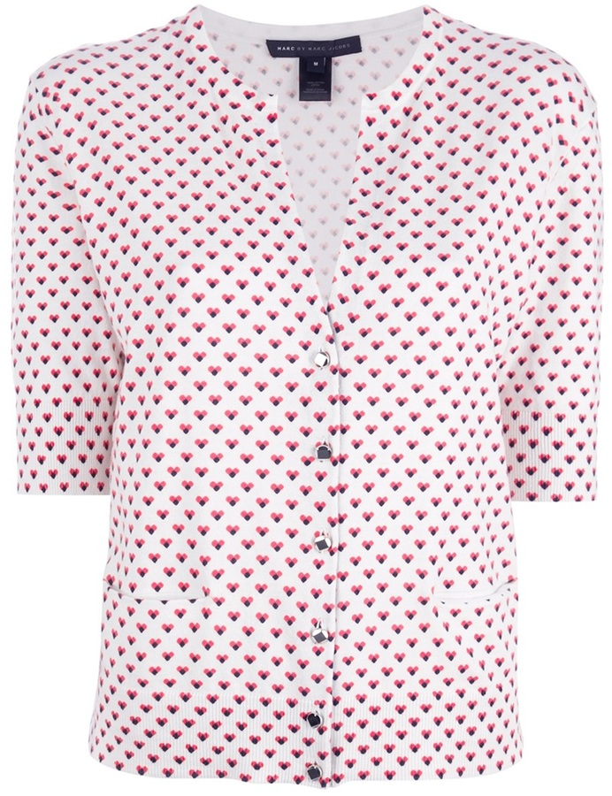Marc by Marc Jacobs heart print cardigan