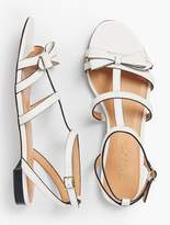 Talbots Keri Bow Vachetta Leather Sandals