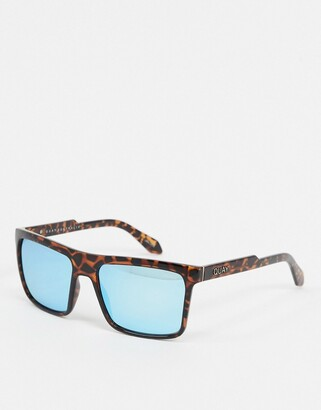 Quay let it run square sunglasses in tortoise shell