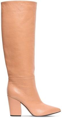 Sergio Rossi 90mm Lizard Print Tall Boots