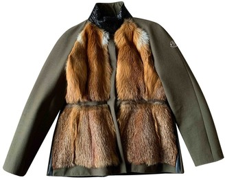 Moncler Gamme Rouge Green Fox Coat for Women