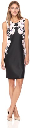 Calvin Klein Women's Printed Scuba Sheath Dress