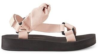 Loeffler Randall Maisie Linen & Cotton Sport Sandals