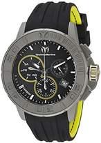 Technomarine Men's TM-515002 Titanium Reef Analog Display Swiss Quartz Black Watch