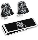 Star Wars Silver-Plated Darth Vader Head Cufflinks and Money Clip Gift Set