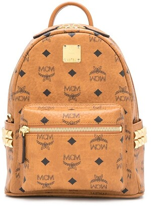 MCM Visetos-Print Medium Backpack