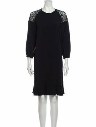 Stella McCartney 2016 Knee-Length Dress Blue