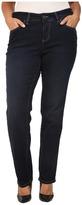 Jag Jeans Plus Size Portia Straight in Indio Platinum Denim Women's Jeans