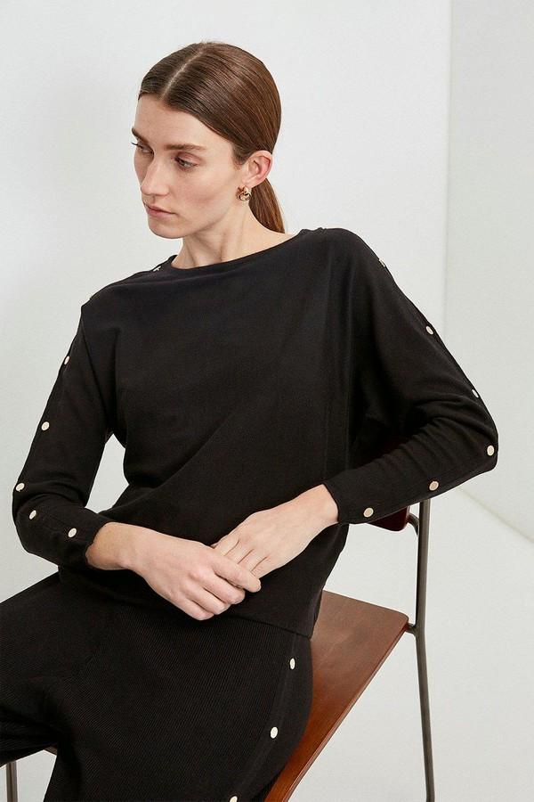 Karen Millen Soft Yarn Rivet Knit Jumper