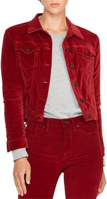 Hudson Classic Fitted Velvet Trucker Jacket