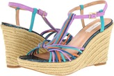 Paul Smith Benita Wedge Sandal (Black/Muted Mini Swirl) - Footwear