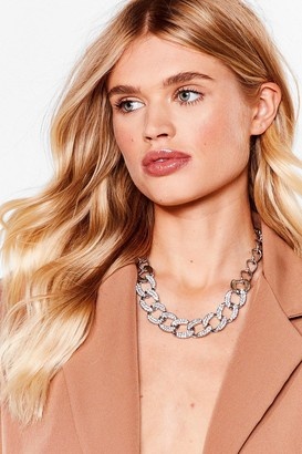 Nasty Gal Womens Do the Right Bling Contrast Chain Necklace - Metallics - ONE SIZE, Metallics