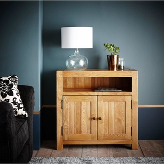 Luxe Collection Grantham 100% Solid Oak Ready Assembled Compact Sideboard