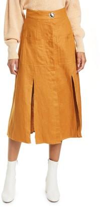 Nicholas Masala Linen Skirt