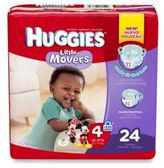 Huggies Little Movers Jumbo Pack Size 4 24-Count Disposable Diapers