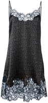 Givenchy logo print lace dress - women - Silk/Cotton/Polyamide - 40