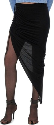 Helmut Lang Ruched Skirt