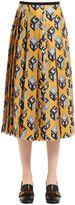 Gucci Gg Wallpaper Printed Silk Twill Skirt