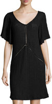 LAmade Lux Ribbed Shift Dress, Black