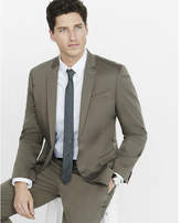 Express Slim Photographer Cotton Sateen Light Brown Suit Jacket