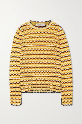 Victoria Victoria Beckham Open-knit Sweater - Yellow