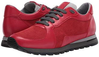 Canali Suede/Calfskin Runner (Red) Men's Shoes