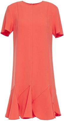 Victoria Victoria Beckham Fluted Stretch-crepe Mini Dress