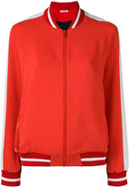 P.A.R.O.S.H. contrast panel bomber jacket - women - Polyester/Viscose/Polyamide - M