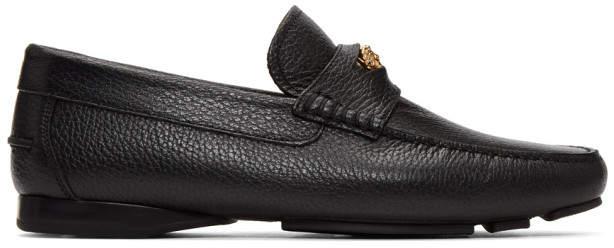 Versace Black Medusa Driver Loafers