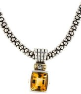 Lagos Citrine Two Tone Pendant Necklace