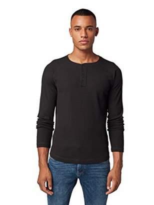 Tom Tailor Men's Henley Longsleeve T-Shirt,S