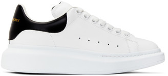 Alexander McQueen White and Black Oversized Sneakers