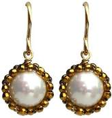 Viv&Ingrid Gold Starburst Earrings