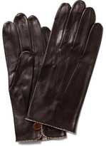 Paul Smith Multistripe Piping Unlined Leather Gloves