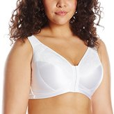 Leading Lady Women's Plus-Size Wirefree Lace Side Smoothing Bra