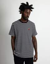 Carhartt WIP Short Sleeve Robie Striped T-Shirt Dark Navy & Beige