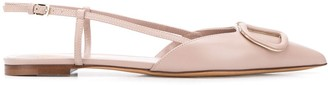 Valentino VLOGO pointed ballerina shoes