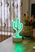 Urban Outfitters Cactus Mini LED Neon Table Lamp