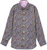 Isaac Mizrahi Purple Paisley Premium Button-Up - Toddler & Boys