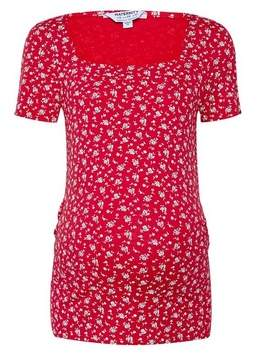 Dorothy Perkins Womens **Maternity Red Square Neck Ditsy Print Top, Red