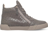 Giuseppe Zanotti The Shark 5.0 croc-embossed leather high-top trainers