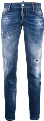 DSQUARED2 Distressed Ripped Skinny Jeans