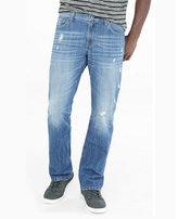 Express slim fit rocco distressed boot cut jean