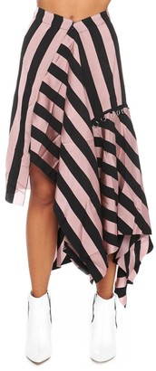 Marques Almeida Asymmetric Striped Skirt