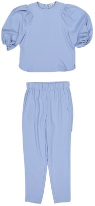 Ganni Blue Polyester Trousers
