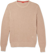 Isaia Knot-Stitch Cotton and Cashmere-Blend Sweater