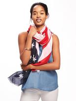 Old Navy Flag-Print Scarf for Women