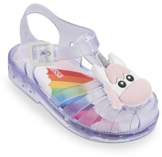 Mini Melissa Baby's & Little Girl's Unicorn Clear Sandals